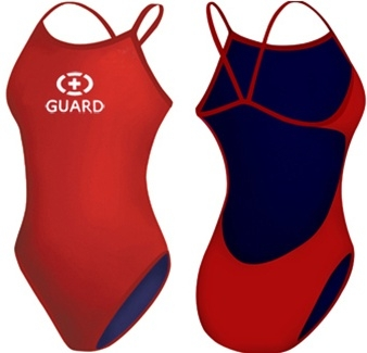 Adoretex Women's Guard Poly Thin Strap Open Back Suit- FGP05